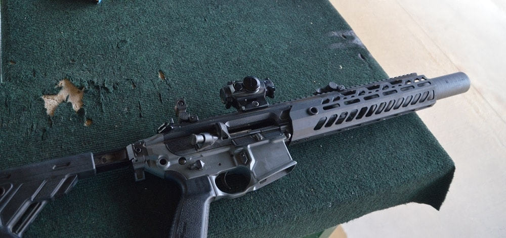 While it is not known what upper SOCOM has chosen from Sig Sauer, the company introduced their SUR300 .300 BLK Upper Reciever Group, compatible with both MCX and AR-style lowers, earlier this year. (Photo: Chris Eger/Guns.com)