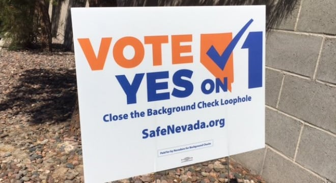 Question 1 was backed by gun control advocates failed in 16 of the state's 17 counties with only voters in Clark County approving the measure. It has been in a holding pattern since 2016. (Photo: Nevadians for Background Checks)