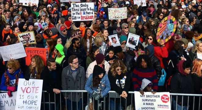 The sponsor of a proposed constitutional amendment to allow 16- and 17-year-olds to vote is a supporter of youth gun control advocacy campaigns such as March for Our Lives (Photo: March for Our Lives) https://www.instagram.com/p/BiP4f2zn4cv/?taken-by=marchforourlives
