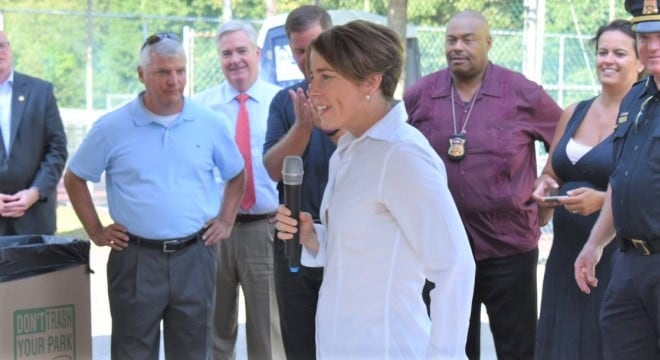 Massachusetts Attorney General Maura Healey, now facing reelection in November, has spent most of her first term in legal combat with pro-gun advocates and picked up another lawsuit this week. (Photo: Healey's office/Twitter)