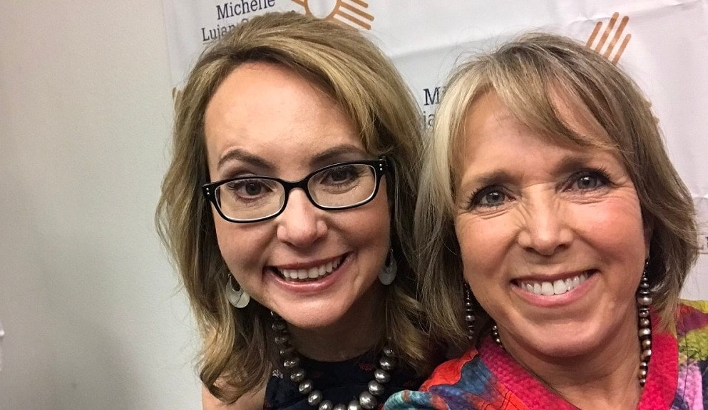 Michelle Lujan Grisham looking to become New Mexico's next governor this Fall, has the endorsement of a number of gun control advocates including former U.S. Rep. Gabby Giffords. (Photo Giffords)