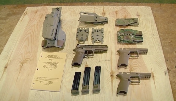 Images of M17s fielded with the Army currently in circulation often show Safariland's Level III 7TS holster series in use. (Photo: U.S. Army)