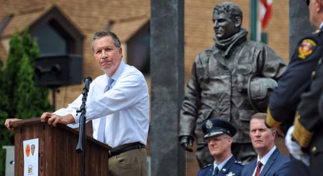 Kasich, a Republican who has increasingly come out in support of gun control measures, declined to sign a bill waiving fees for veterans and active duty military last week. (Photo: Governor's office)