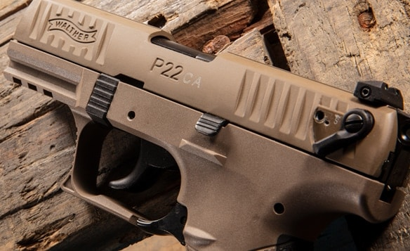 Walther Arms develops P22 FDE California pistol models