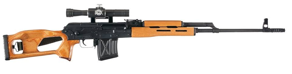 Rather than a clone of the Soviet-era designated marksman rifle designed by firearm engineer Yevgeny Dragunov, the Romanians created the PSL as more of an homage to that gun, basing it off of the Kalashnikov AK and RPK designs. That doen't mean they aren't cool, though. (Photo: Circle 10 AK)
