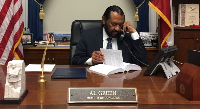 A plan proposed by U.S. Rep. Al Green, D-Tex, would make it illegal for a person without an FFL to transfer a firearm on the premiss of a gun show, even in the parking lot. (Photo: Green's office)
