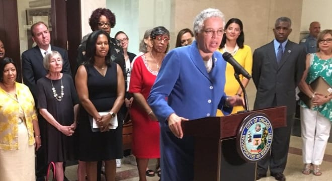 """Cook County Board President Toni Preckwinkle said on Tuesday that the recently upheld local ban is """"the kind of common sense gun legislation we need."""" (Photo: Cook County)"""