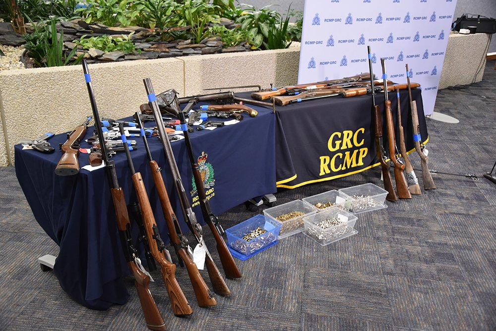 Overall, the firearms shown off by Canadian authorities were pretty pedestrian. (Photos: RCMP & Winnipeg Police)