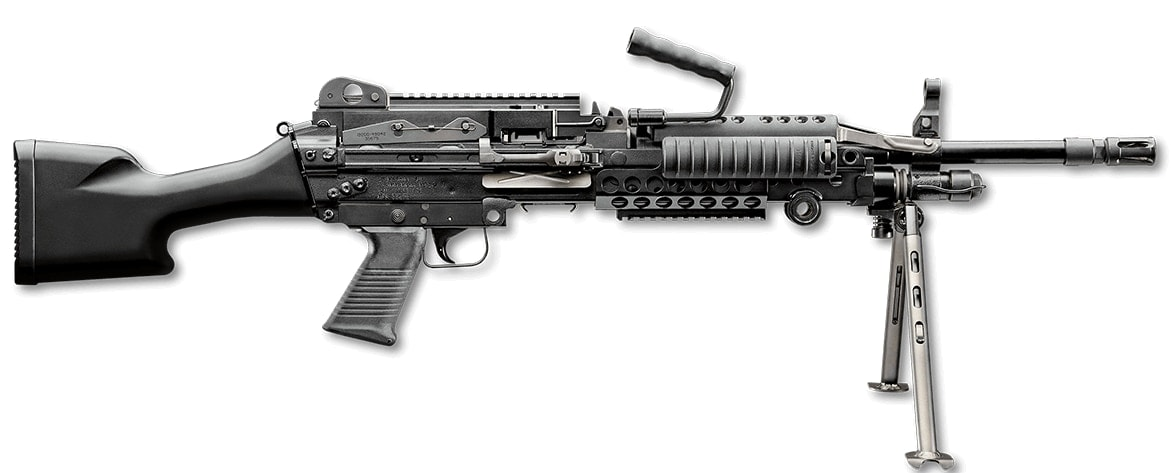 "The MK48, often termed the ""Super SAW"" weighs 18.26-pounds and has many of the M249s ergonmomics but in a larger caliber. It uses a 19.75-inch barrel and has a 730 round per minute theoretical rate of fire when cyclic. (Photo: FN)"
