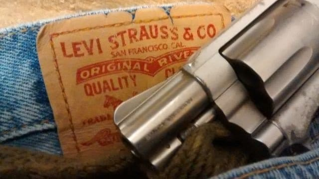 """Founded in 1853 in San Francisco, California, Levi Strauss bills themselves as """"one of the great symbols of American freedom,"""" in their CEO's stand against guns. (Photo: Chris Eger/Guns.com)"""