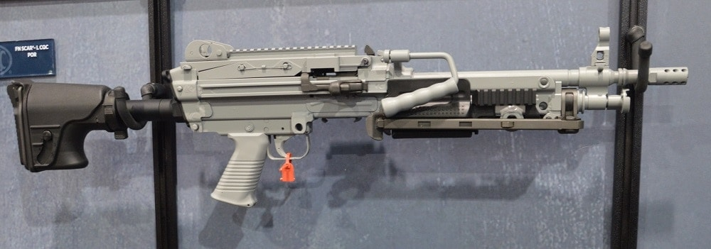 FN has long shown off variants of the MK46 and MK48 at trade shows with a variety of finishes and features. (Photo: Chris Eger/Guns.com)