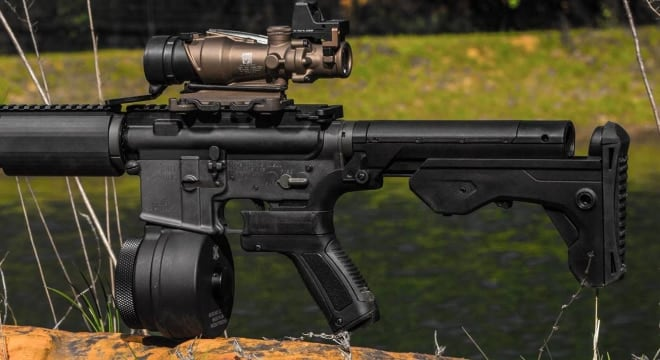 A federal judge held the replacement stocks become component parts once installed, thus making them protected under the Protection of Lawful Commerce in Arms Act. (Photo: Slide Fire)