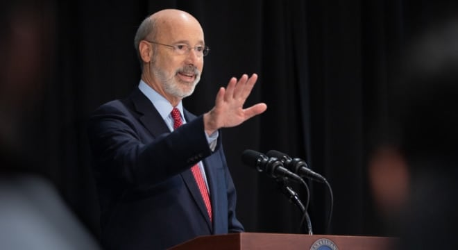 In addition to the bill signed last week, Wolf called for a law to require background checks on private transfers of some semi-automatic firearms such as AR-15s (Photo: Wolf's office)