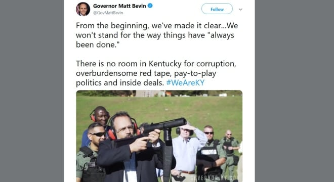 Governor running for re-election literally blows up red tape (VIDEOS)