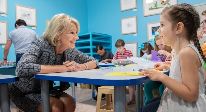 Education Secretary Betsy DeVos (Photo: Education Dept. via Twitter)