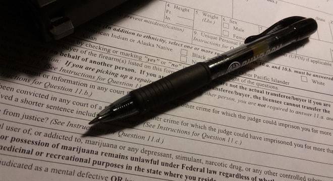 Lawmaker drafting bill to remove marijuana question from ATF gun form