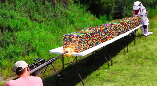 One million legos vs .50 cal (VIDEO)