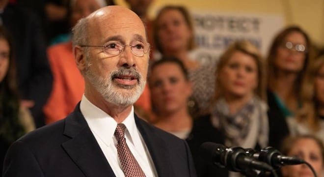 Gov. Tom Wolf said he is ready to sign the bill and is eager to see more gun control measures sent his way. (Photo: Wolf's office)