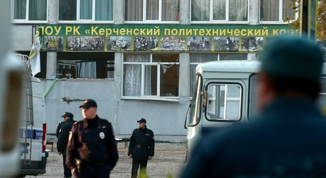 A student armed with a legally-purchased shotgun and homemade explosives is blamed for the attack on a college in the Crimea this week. (Photo: Sergei Malgavko/TASS)