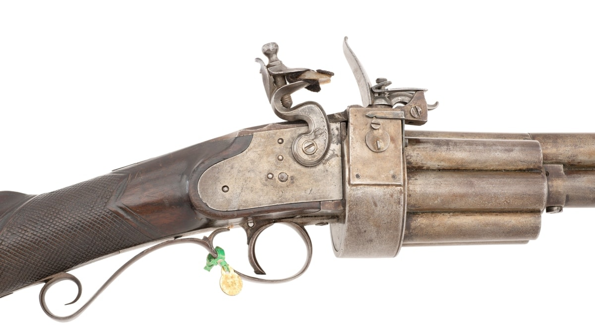 Rare military flintlock revolving rifle sells for $118K (PHOTOS)