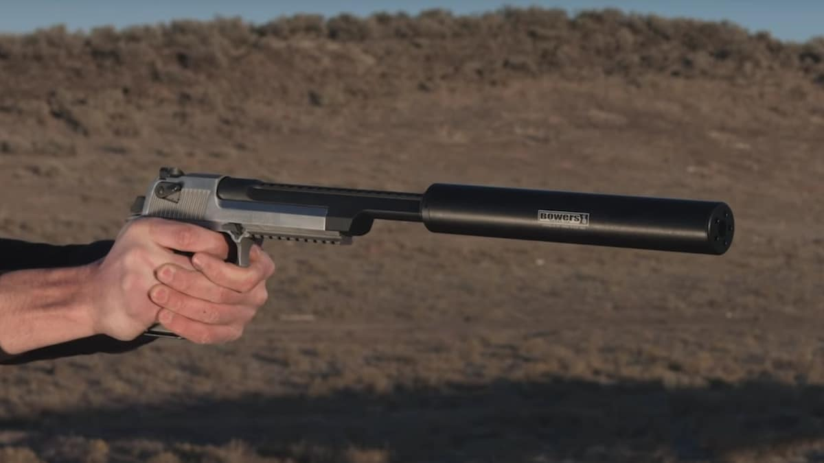 It takes a lot of can to suppress a Deagle .50 cal (VIDEO)