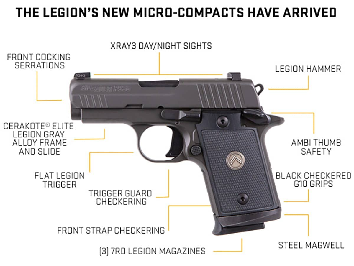 Sig Sauer adds P938 and P238 Micro-Compact to Legion Series