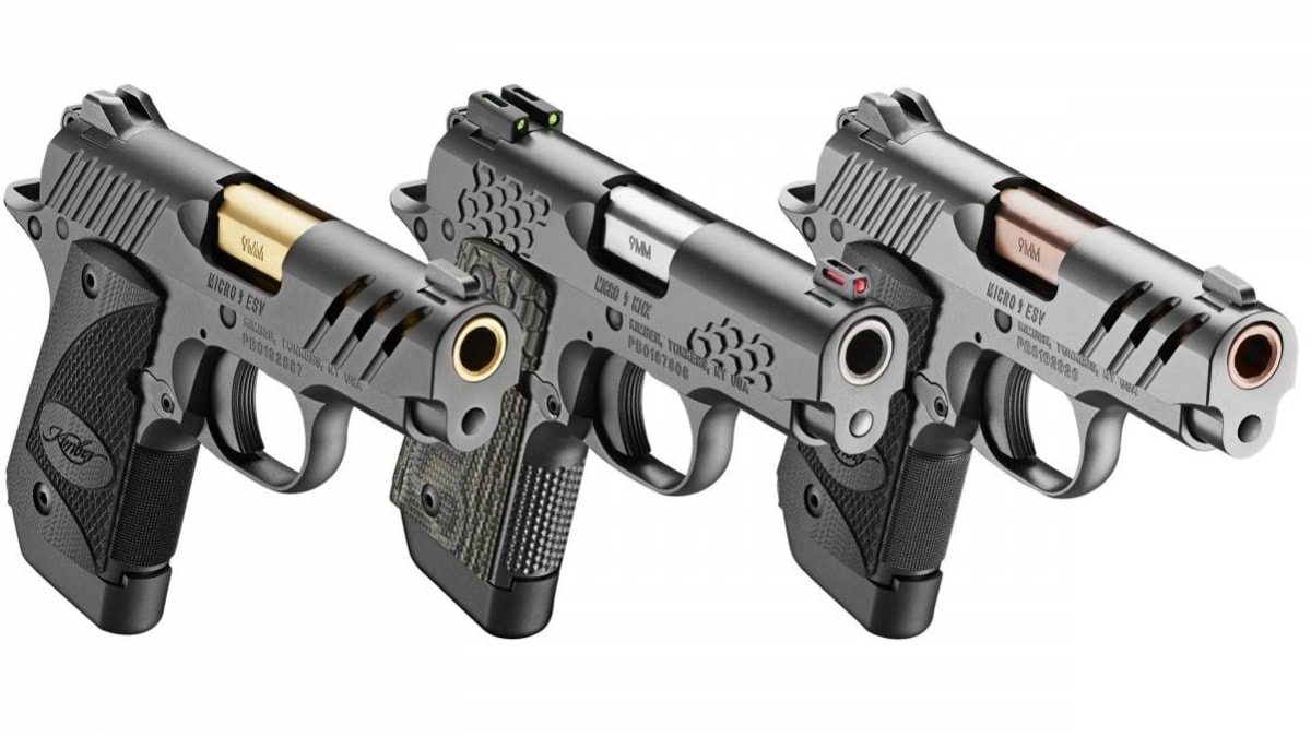 Kimber has broadened their Micro 9 series pistols with two new ESV variants and a KHX model (Photos: Kimber)