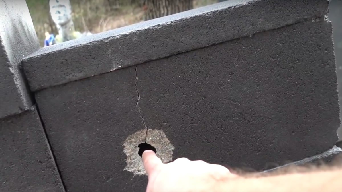 Chopping through a wall with a 7.62x39mm drill (VIDEO)