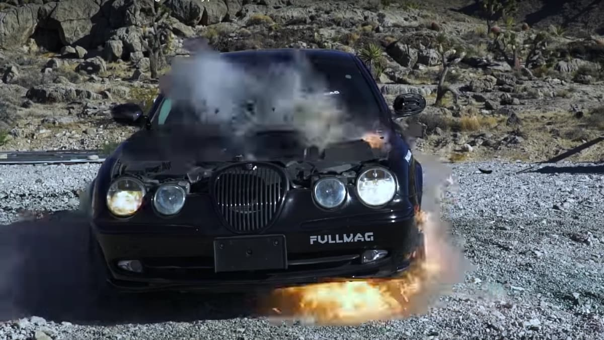 Jaguars really don't do well when confronted with 20mm Vulcan fire (VIDEO)