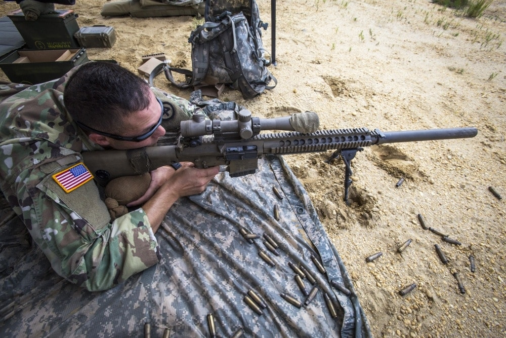 KAC wins $16M Army contract for more M110 sniper rifles ... M110 Sniper Rifle Suppressed