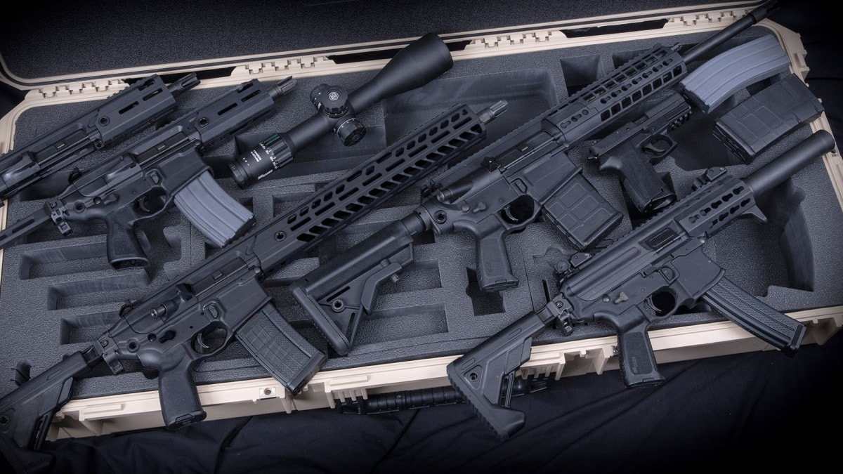 The Army wants $13.4 million worth of Sig-produced MCX rifles, MPX sub-guns, 716G2 rifles, SP2022 pistols, Tango6 series scopes, and suppressors. (Photo: Sig)