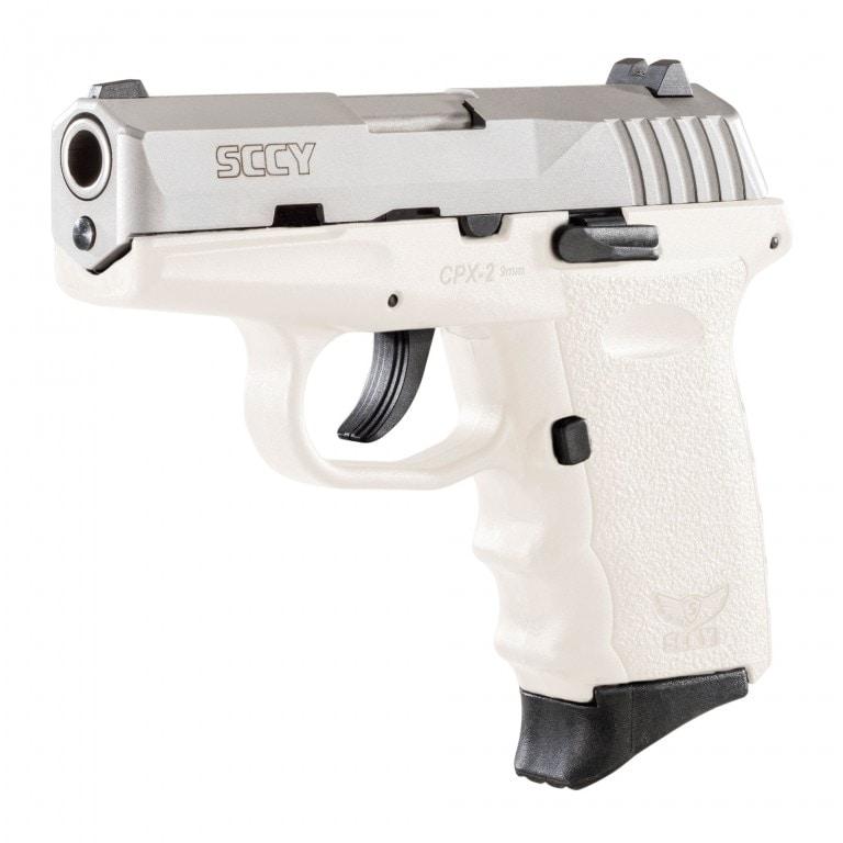 white sccy cpx2 handgun