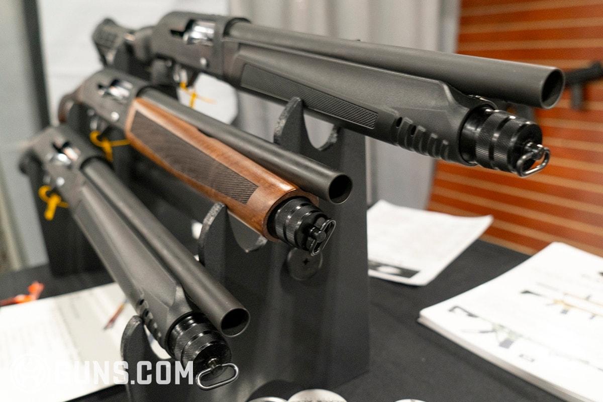 3 black aces shotguns on display