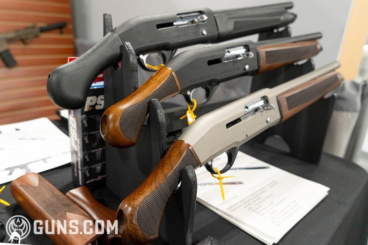 black aces shotgun on display