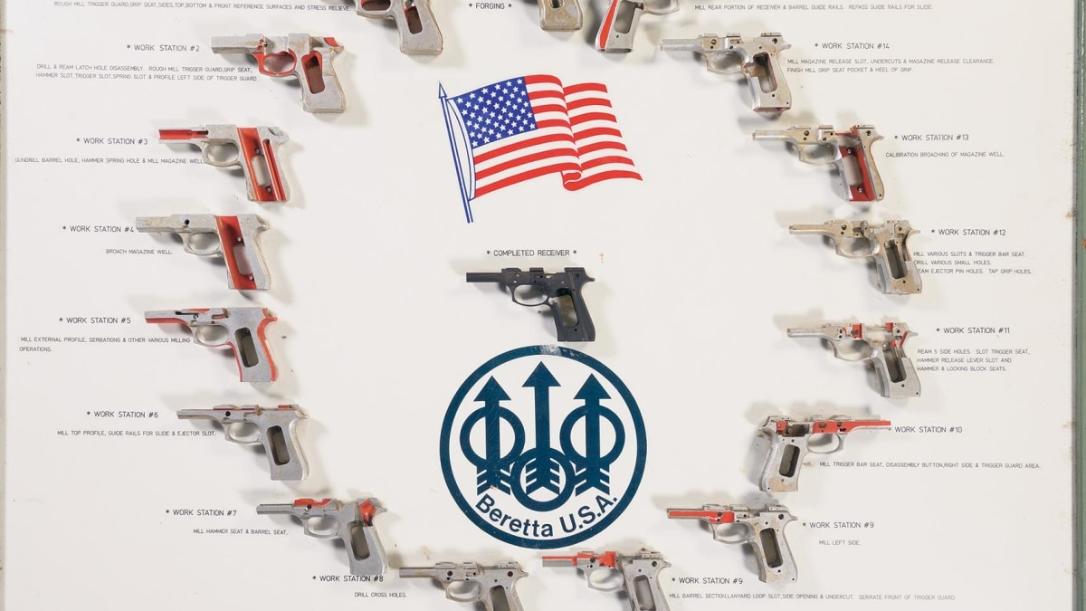 The perfect Valentine's gift for a Beretta M9 fan is up for auction
