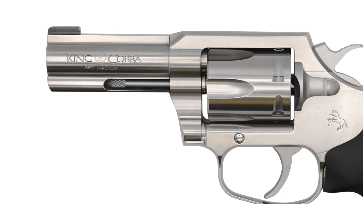 close up photo of colt king cobra revolver