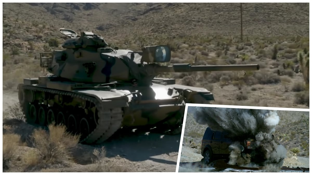 Pre-owned Land Rover vs. working M60A1 tank (VIDEO)