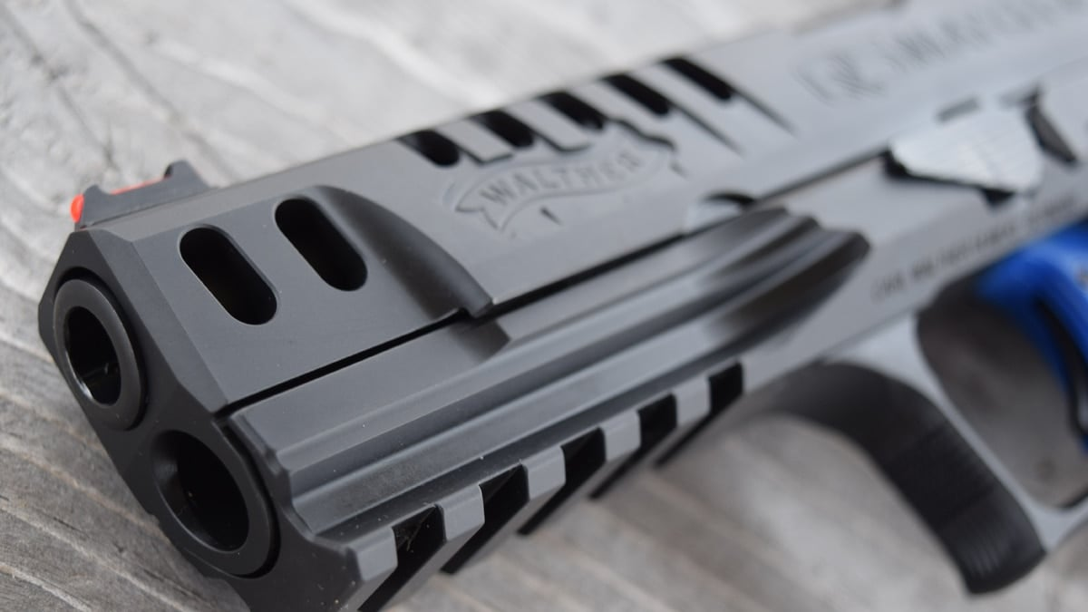 The new Walther Q5 Match SF pistol, an all-steel competition