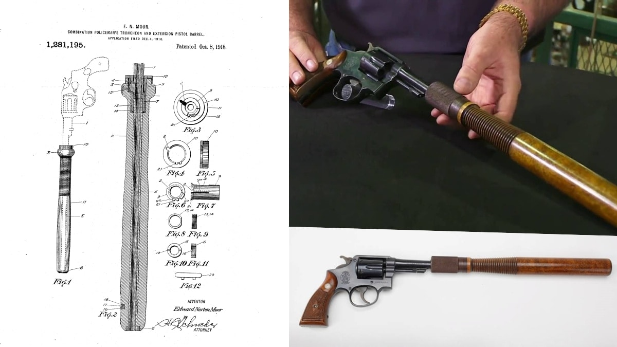 The vintage revolver-mounted Billy Club. Yes, it was real (VIDEO)