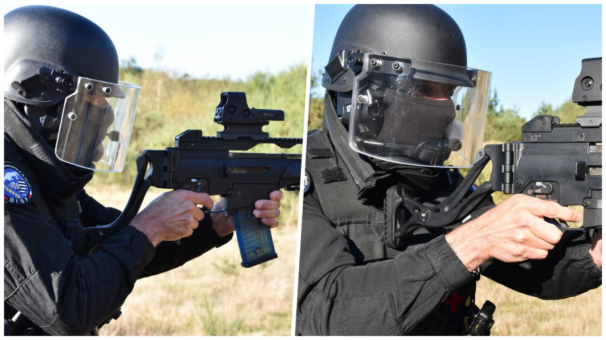 The curious 9-position stock built for use with helmet visors, masks (VIDEO)