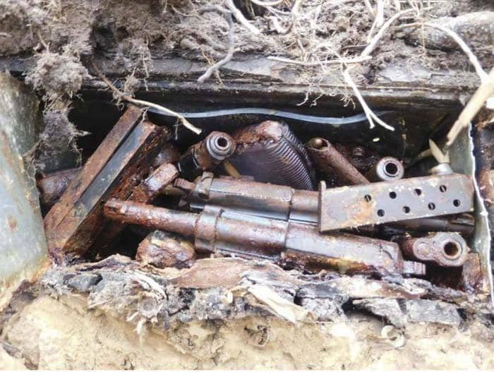 old weapons, rust, bunker, german