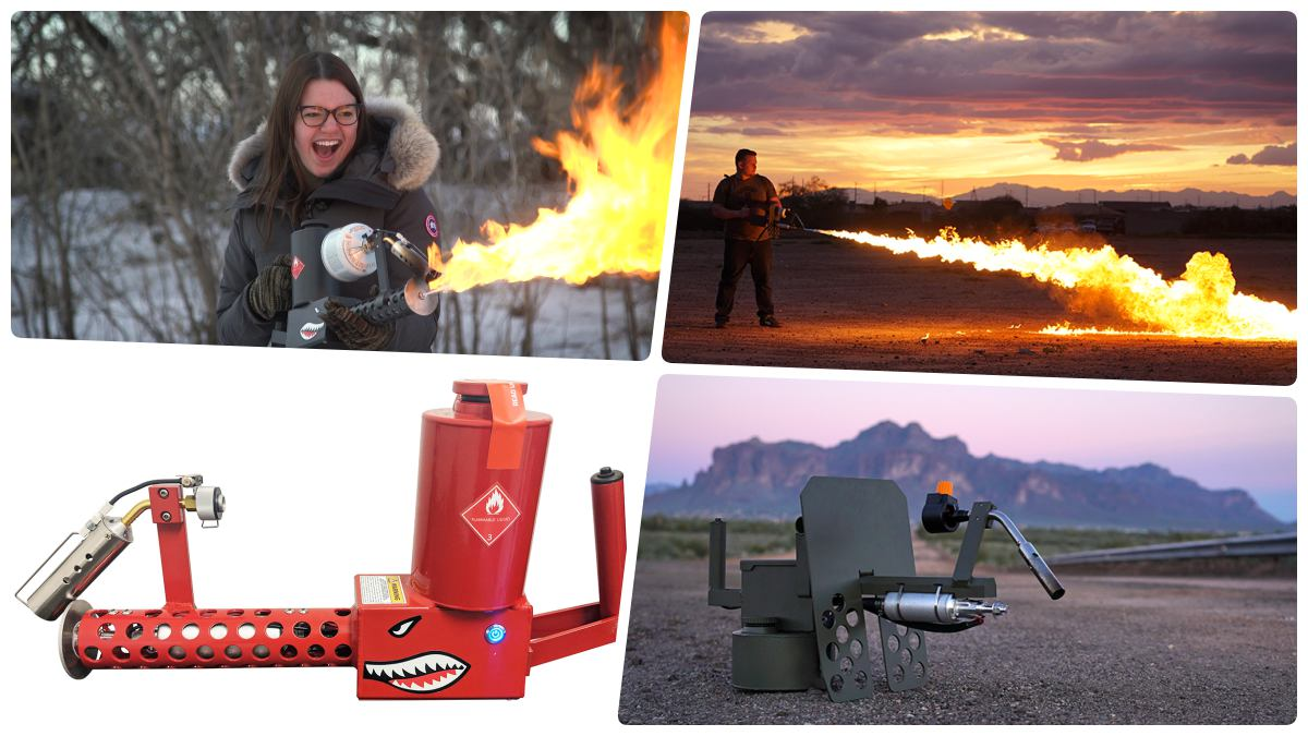 Light flamethrower market heats up as 2 new devices come online (VIDEOS)