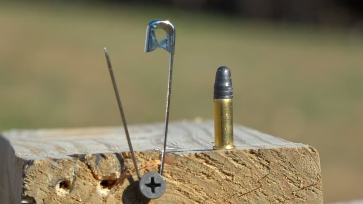 Opening a safety pin the .22 way (VIDEO)