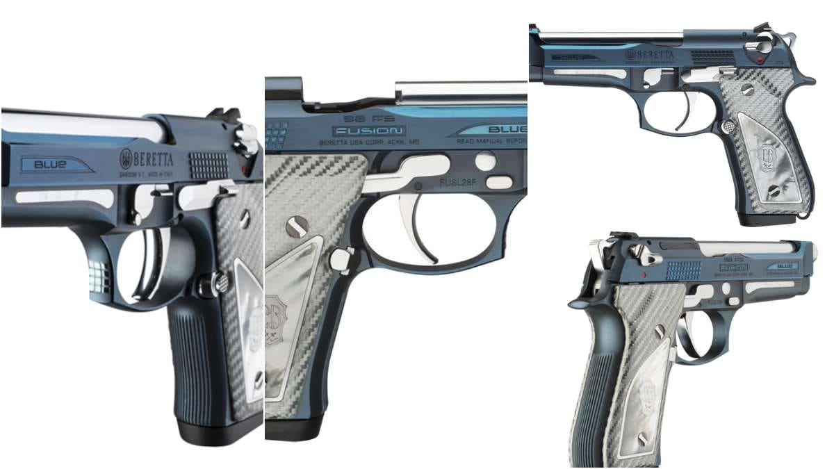Beretta Shows Off Stunning 92FS Fusion Blu Pistol (VIDEOS)