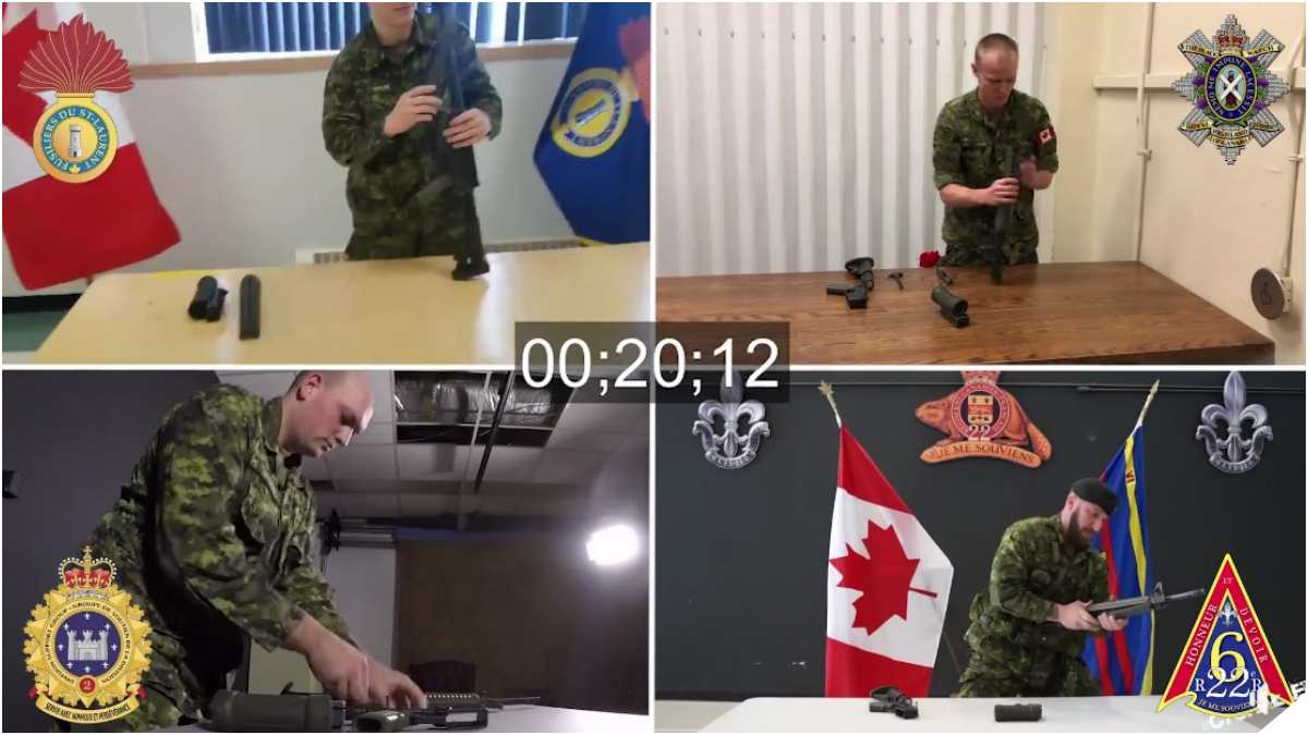 Canadian Army Holds Polite Rifle Speed Drill Challenge
