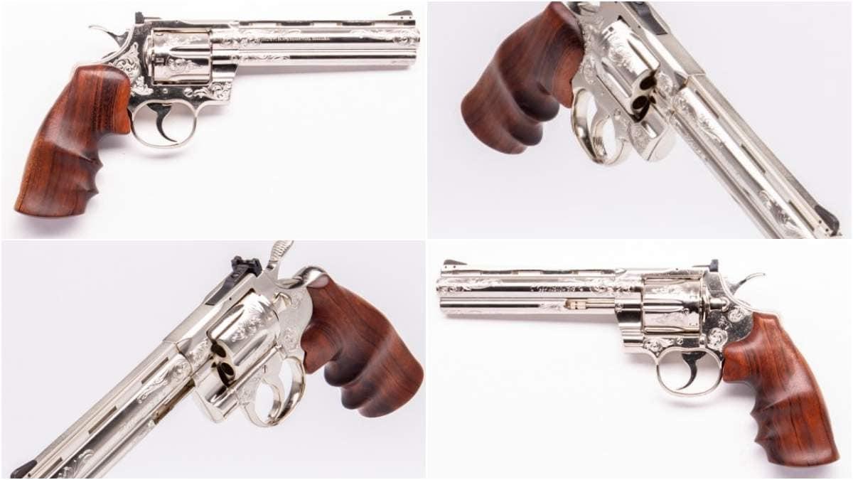 Engraved 6 inch Colt Python