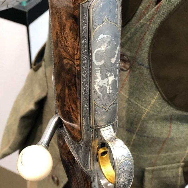 Custom Sauer S 404 Stoneage rifle detail