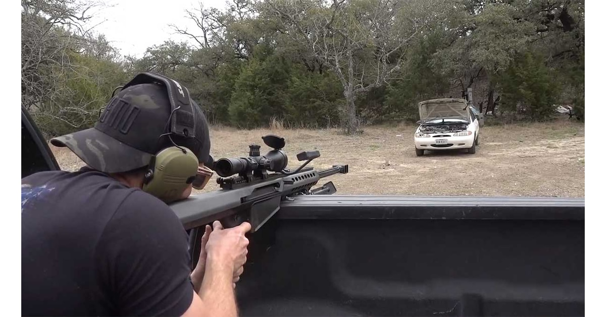 Ford Escort Takes A Beating Courtesy Of Demolition Ranch Video Guns Com