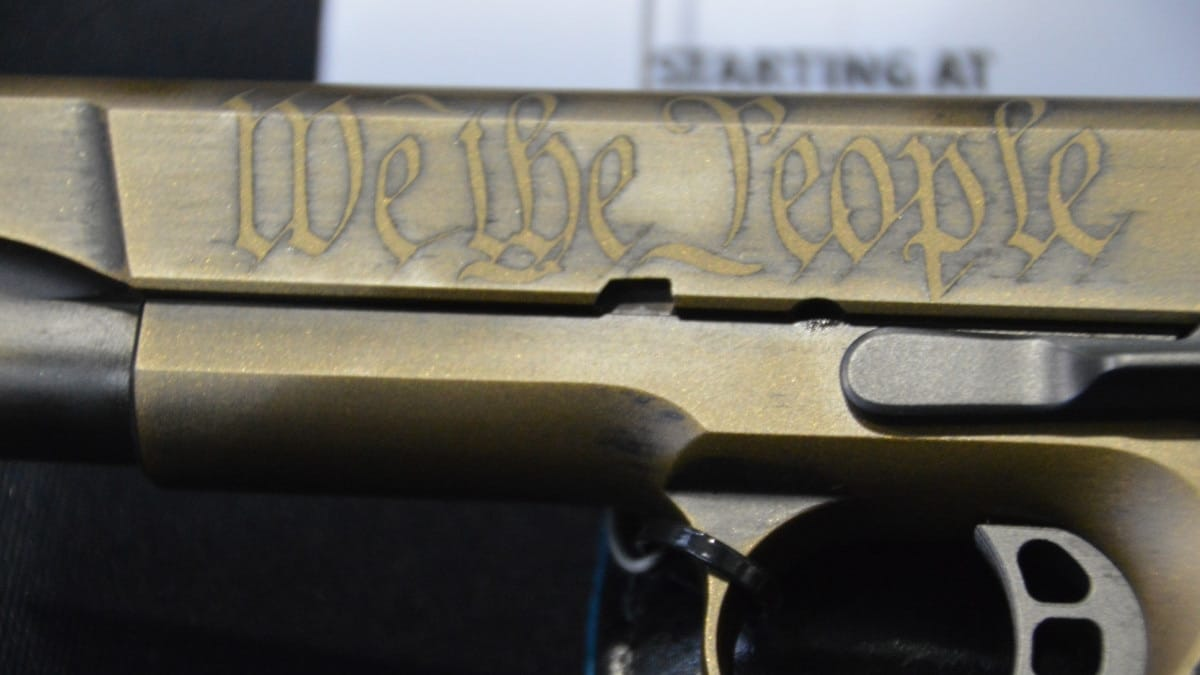 Nighthawk 1911 with We The People scroll