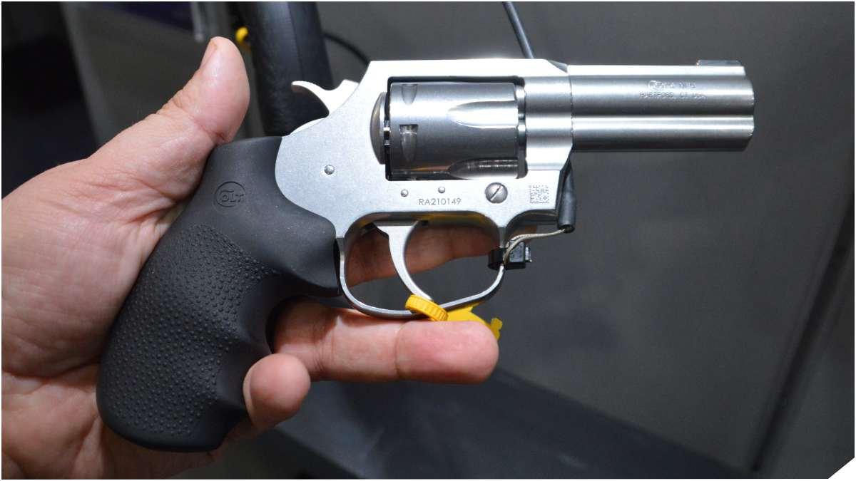 Colt King Cobra 357 in a man's hands
